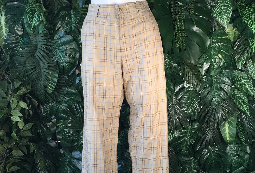 Brace plaid trousers (size 14)