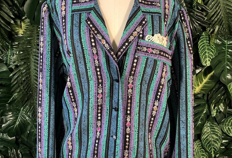 80s pocket detail blouse
