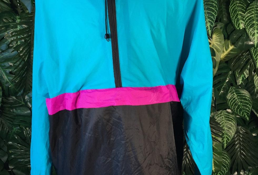 Colour block hooded windbreaker (L)