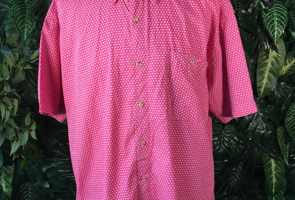 Pink polkadot shirt (L)