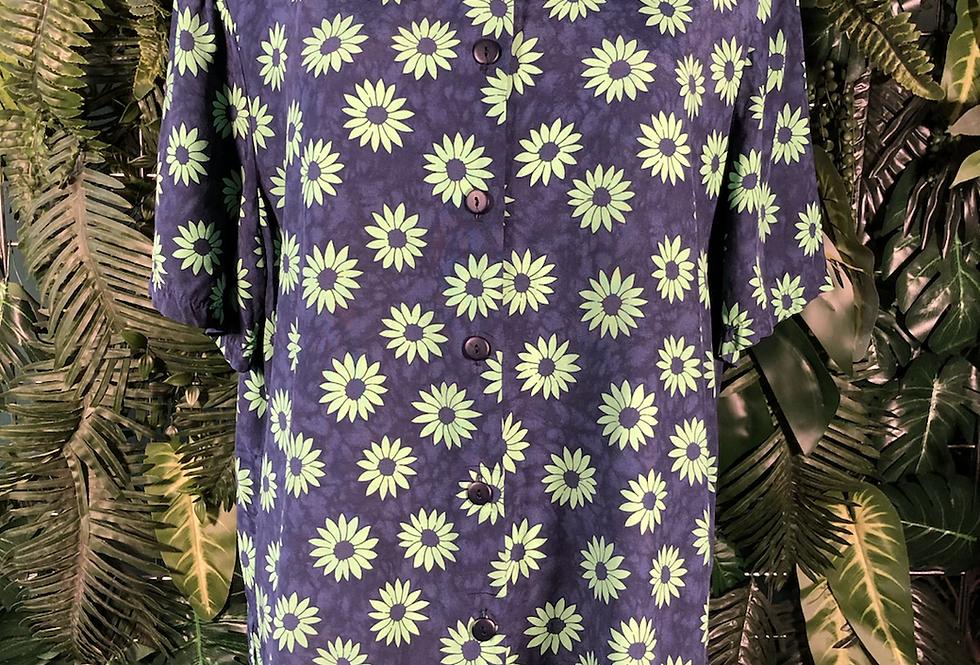 Navy daisy blouse