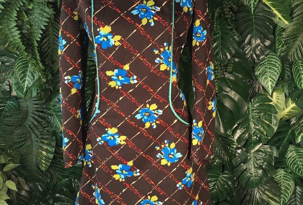 1960s floral dress (size 16)