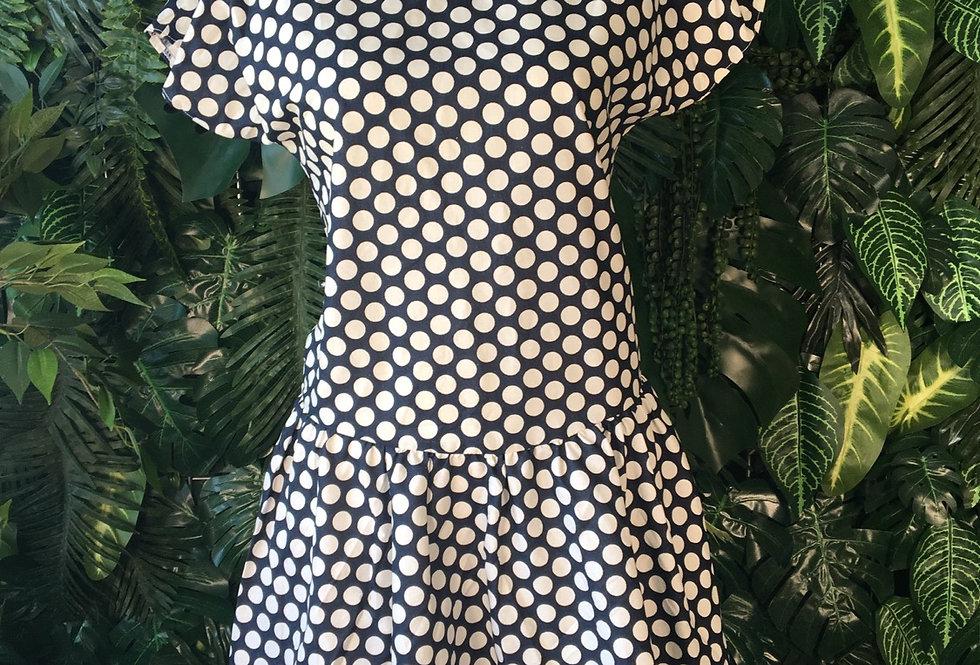 Navy polkadot summer dress (size 12)