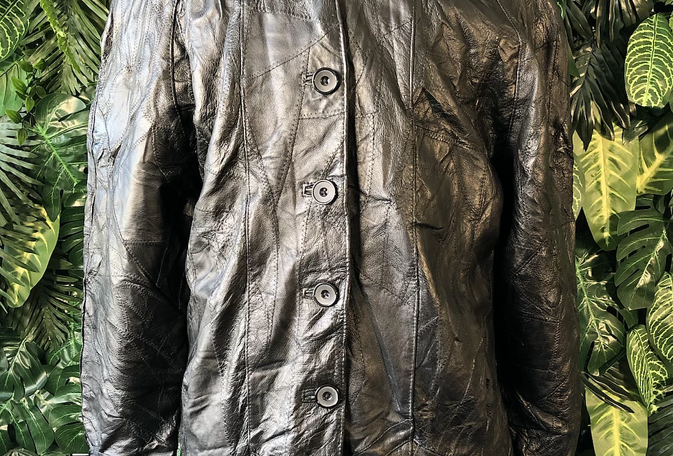 Cellini leather patchwork jacket