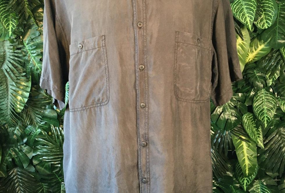 Charcoal silk shirt (L)