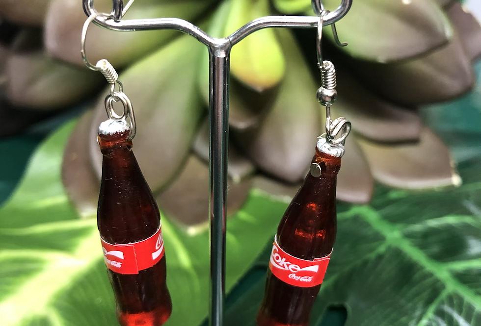Coke cola bottle earring small