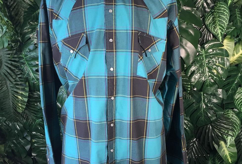 Ely teal cowboy shirt (3X)