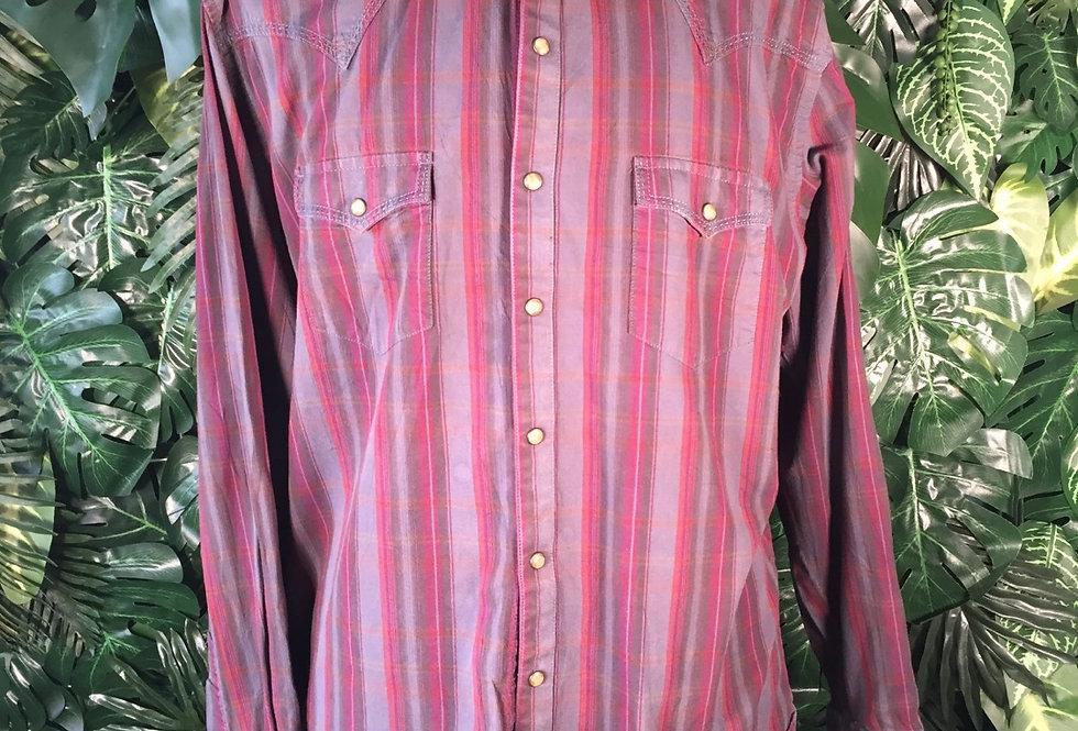Wrangler plaid shirt (L)