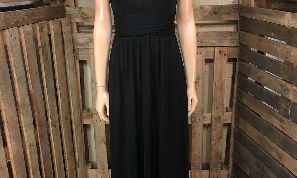 70s deep V blacks Maxi