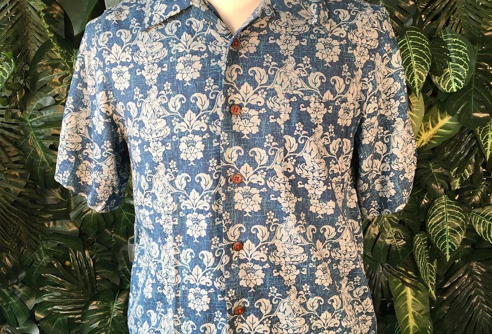 Blue Hawaiian shirt (M)