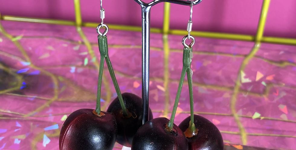 Cherry custom earrings