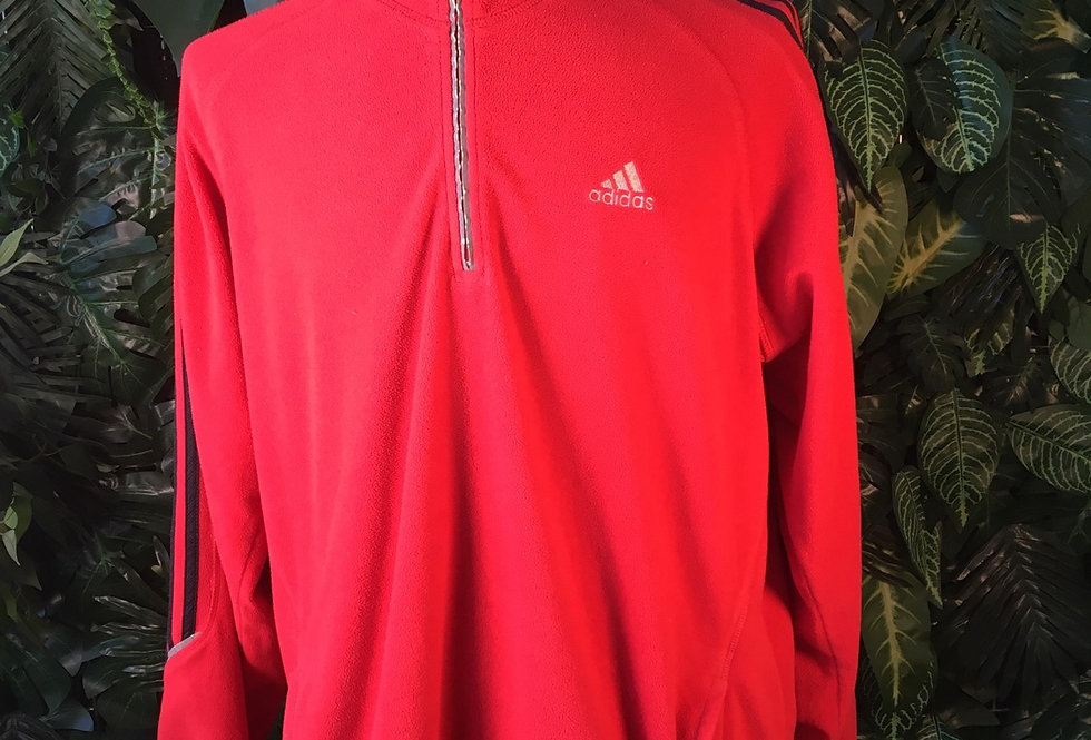 Adidas red fleece (XL)