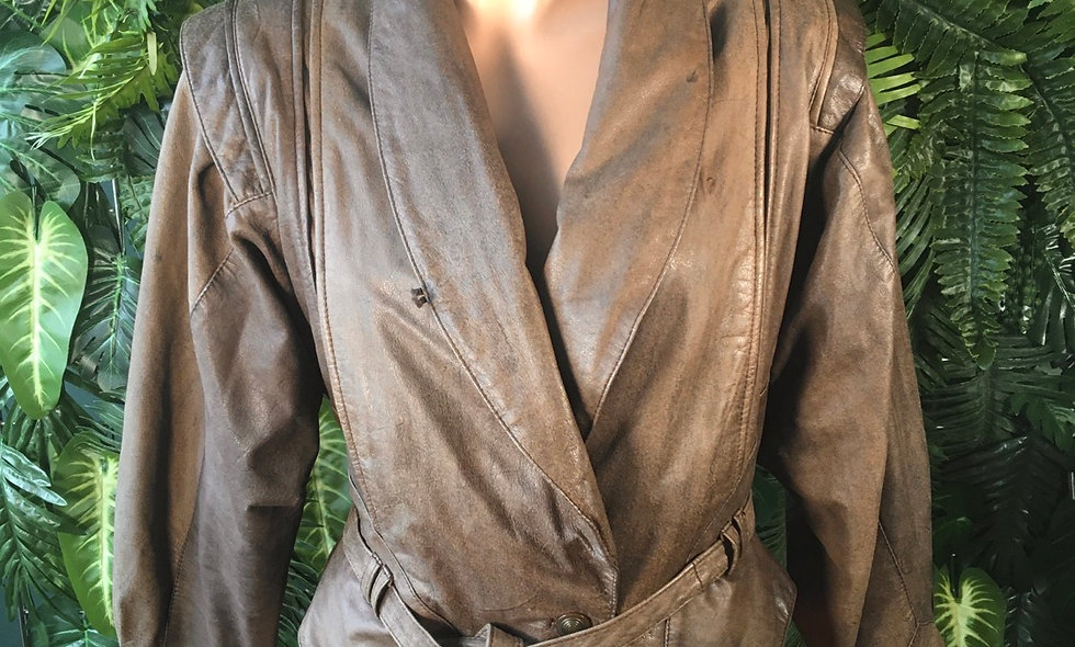 80s Leather Wrap Jacket