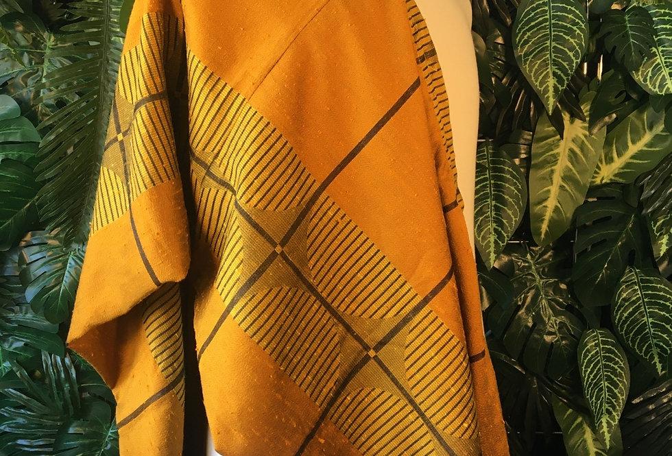 Gold geometric fabric