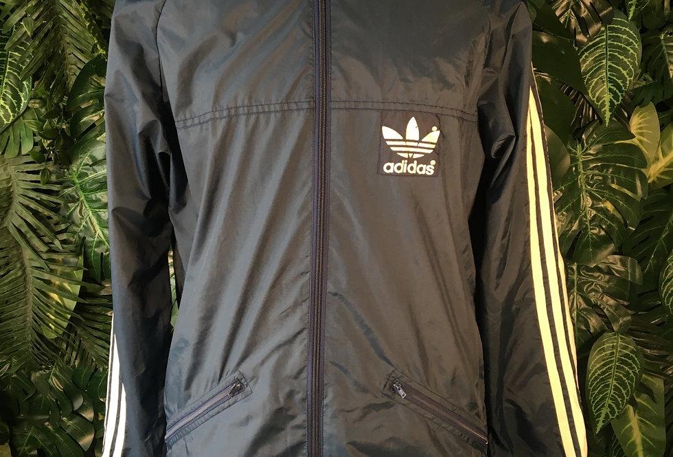 Adidas rain jacket with zip away hood (XS)