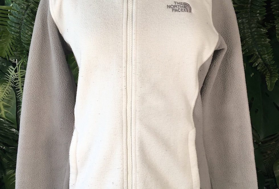 The North Face white and grey fleece