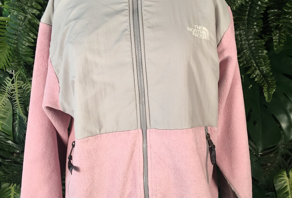 The North Face  baby pink and grey fleece