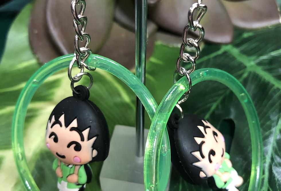 Anime hoop earring