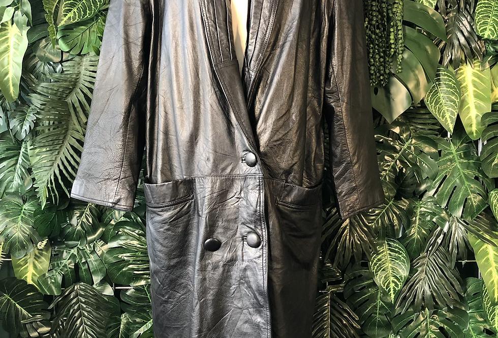 Donna pelle leather 90s trench