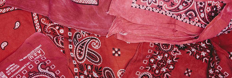 red vintage bandana