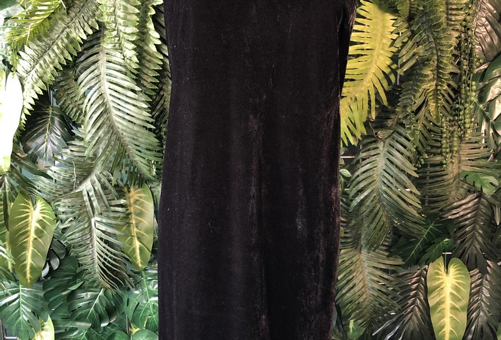 Plaza south black velvet dress