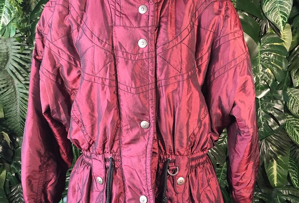 Burgundy ski jacket (size 38)