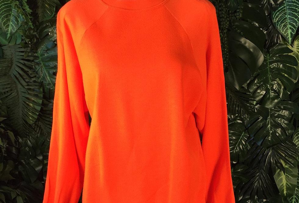 Fluoro orange crew neck (XL)