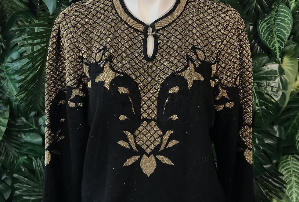 1980 metallic knit (size 40 )