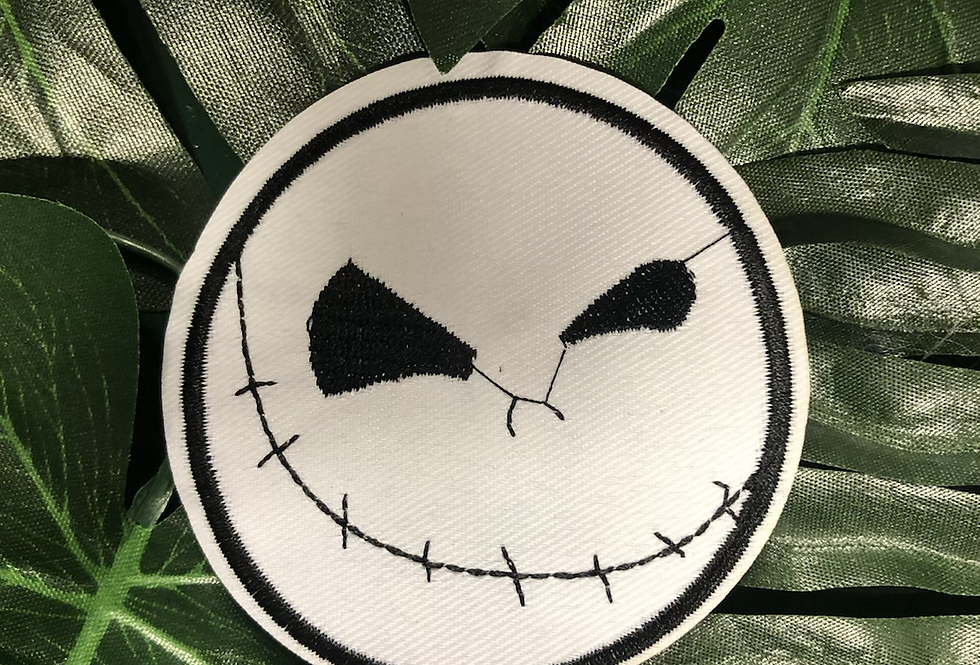 Jack skeleton iron on badge