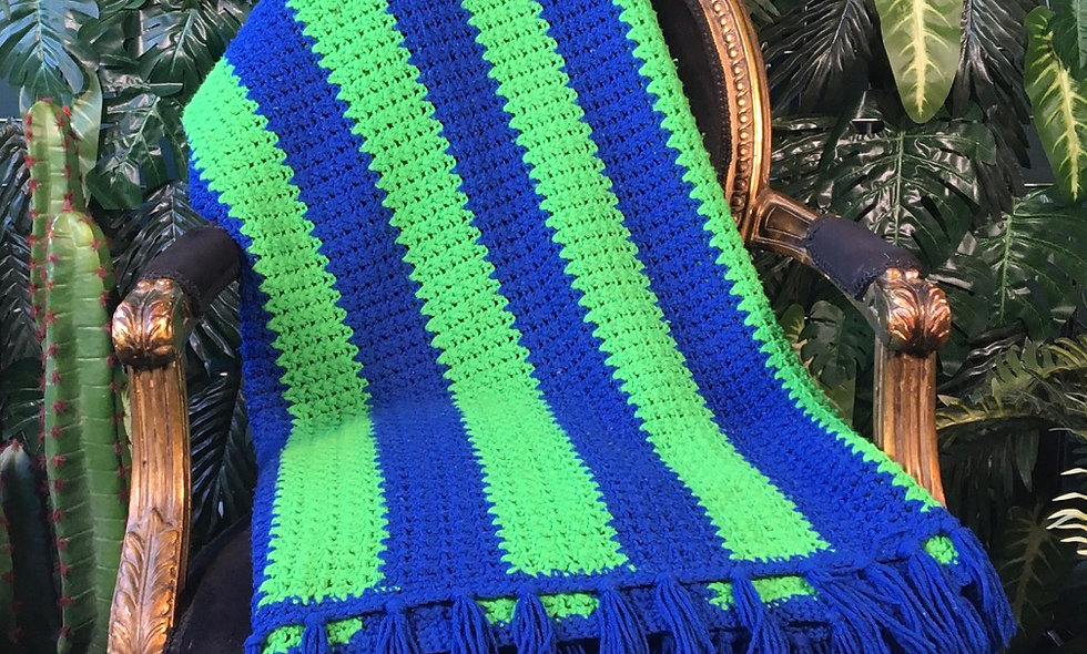 Hand Knit Pure Wool Blanket