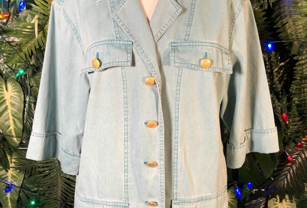 Aqua denim shirt