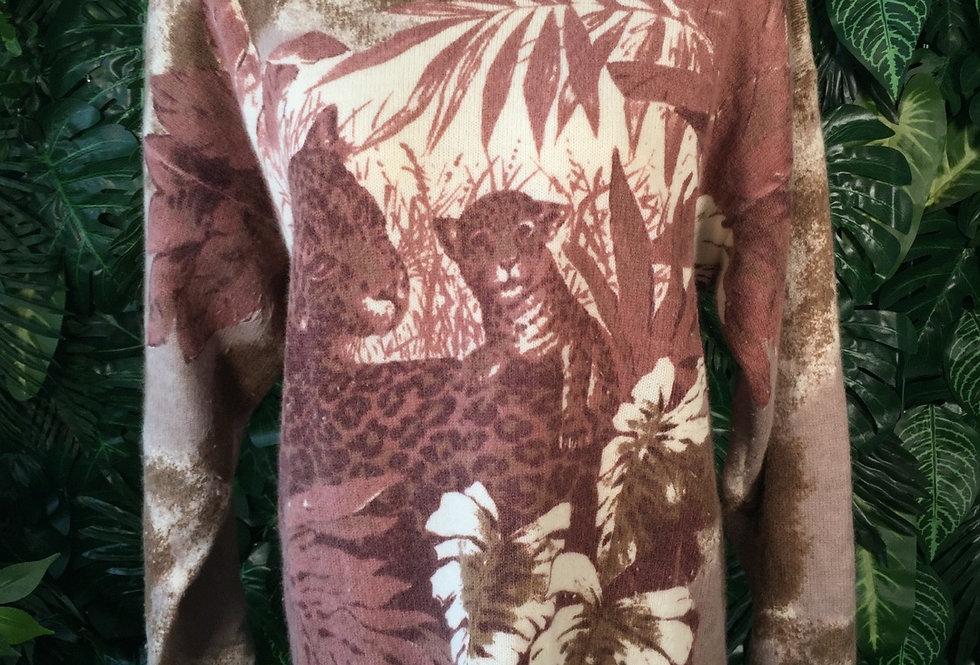 Jungle print knit (XL)