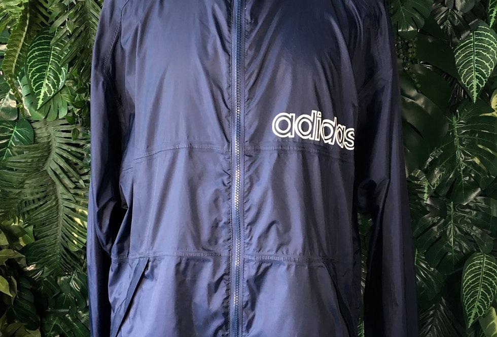 Adidas rain jacket with foldaway hood (L)