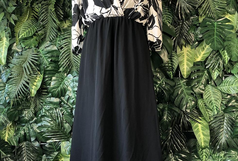 1980s full length maxi dress