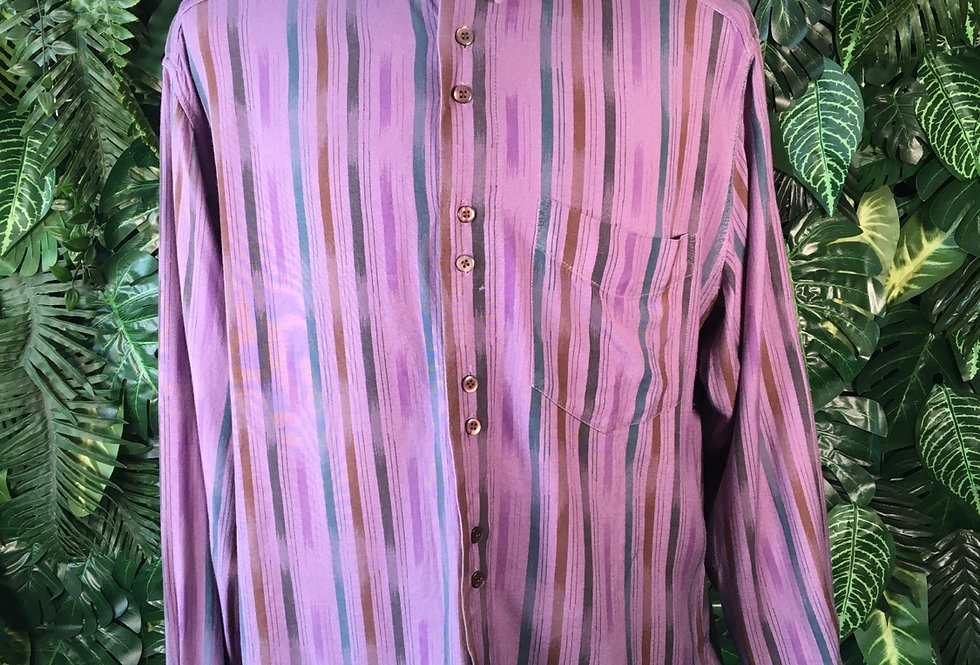 90s striped shirt (L)