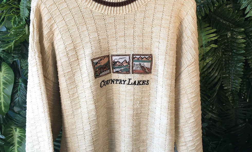 Country Lakes Patched Knit