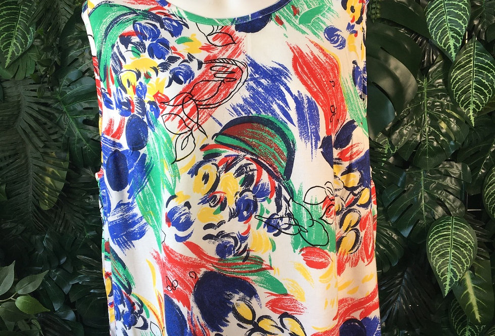Abstract 90s vest (size 50)