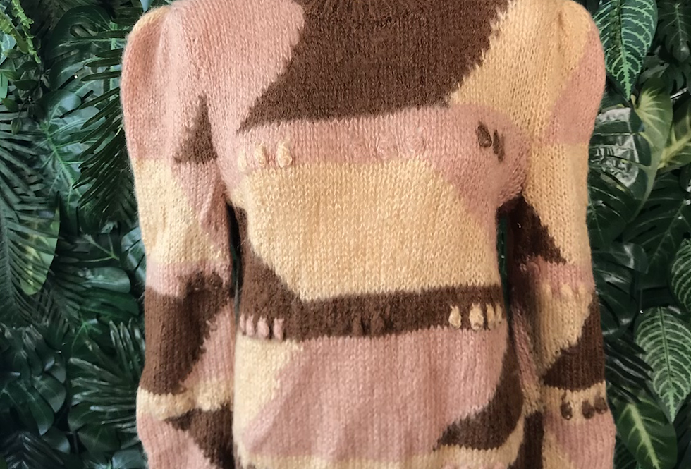 1980s graphic knit (small)