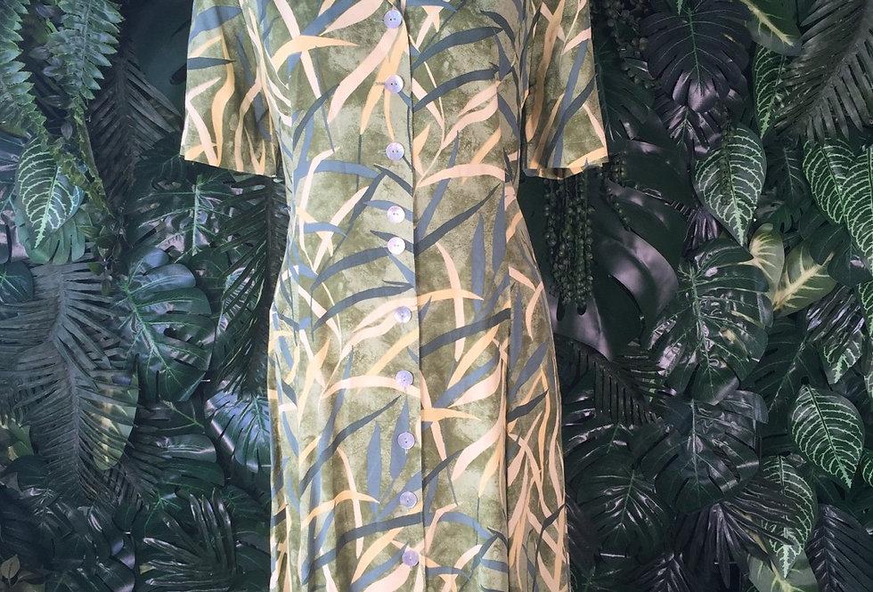 Graphic botanical print dress (size 14)