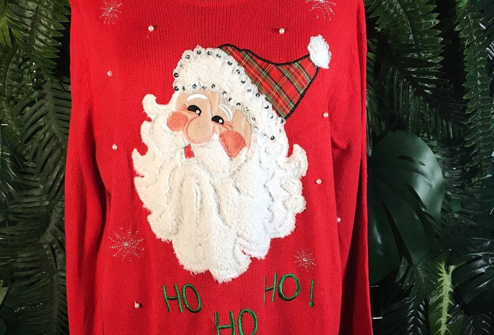 Beaded Santa Sweater (XL)