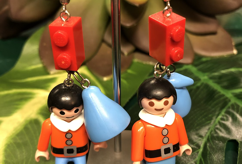 Playmobile earrings (2 styles)