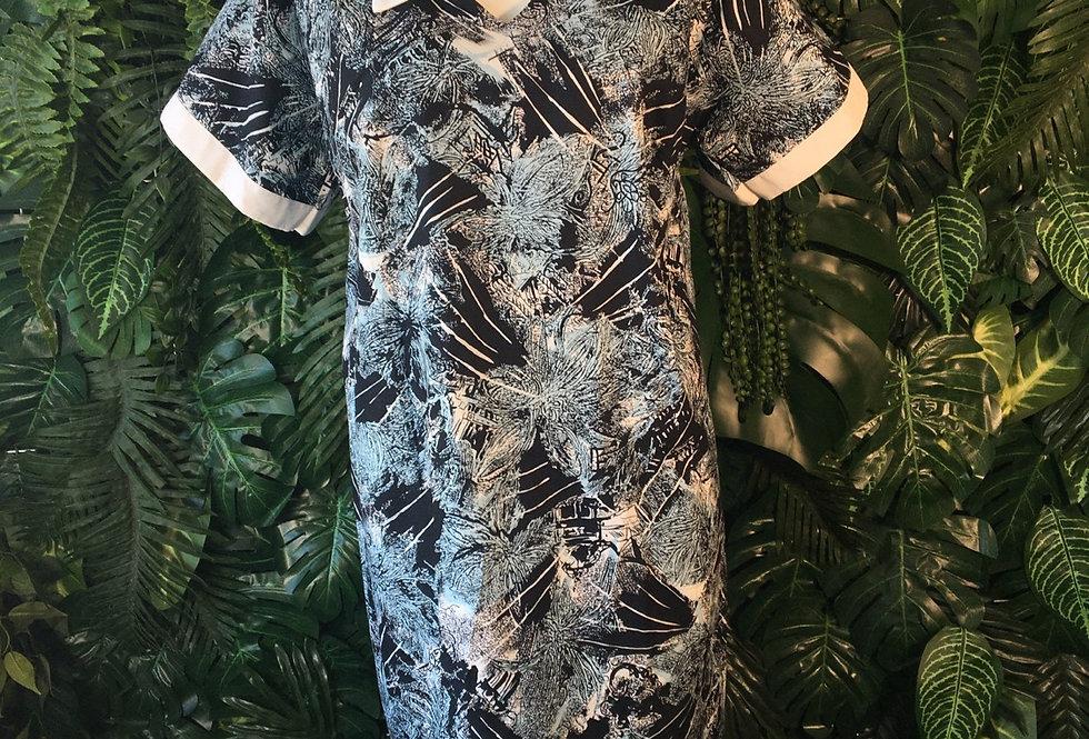 Graphic shift dress (size 18)