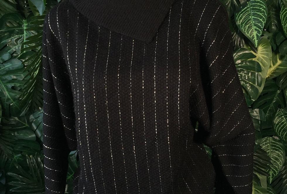 C&A silver stripe knit (S)