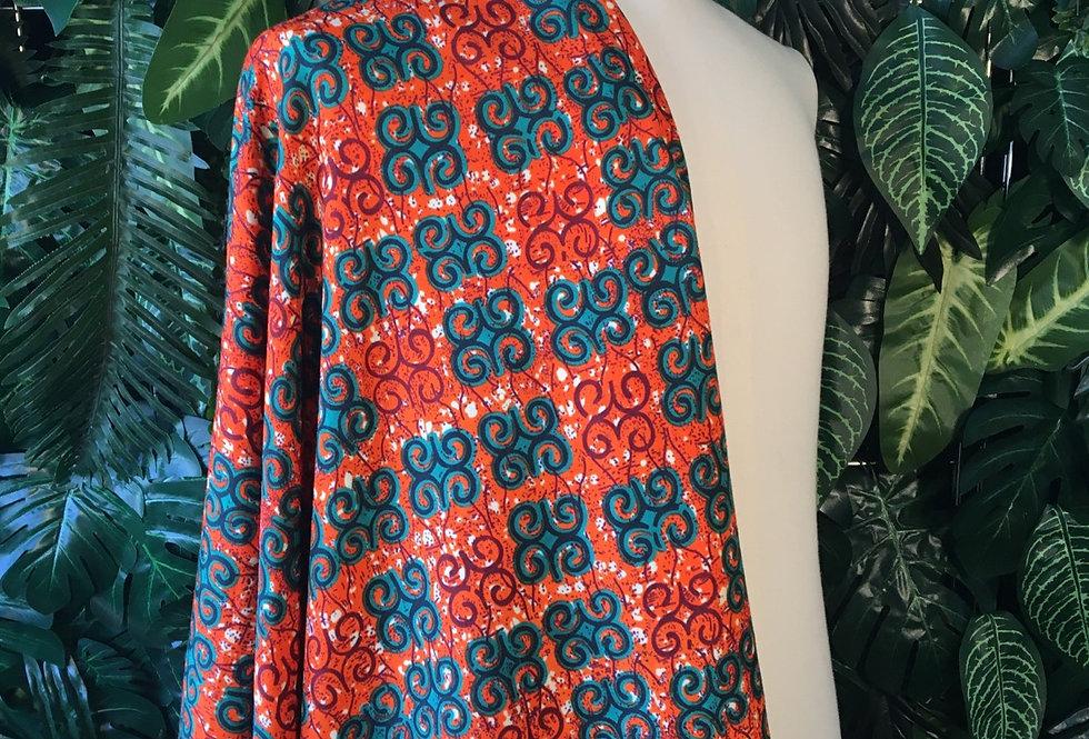 Orange and green fabric