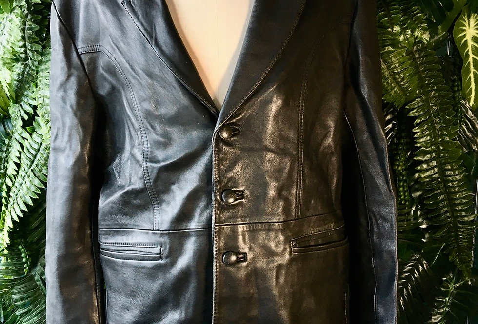 Leather Blazer (L)