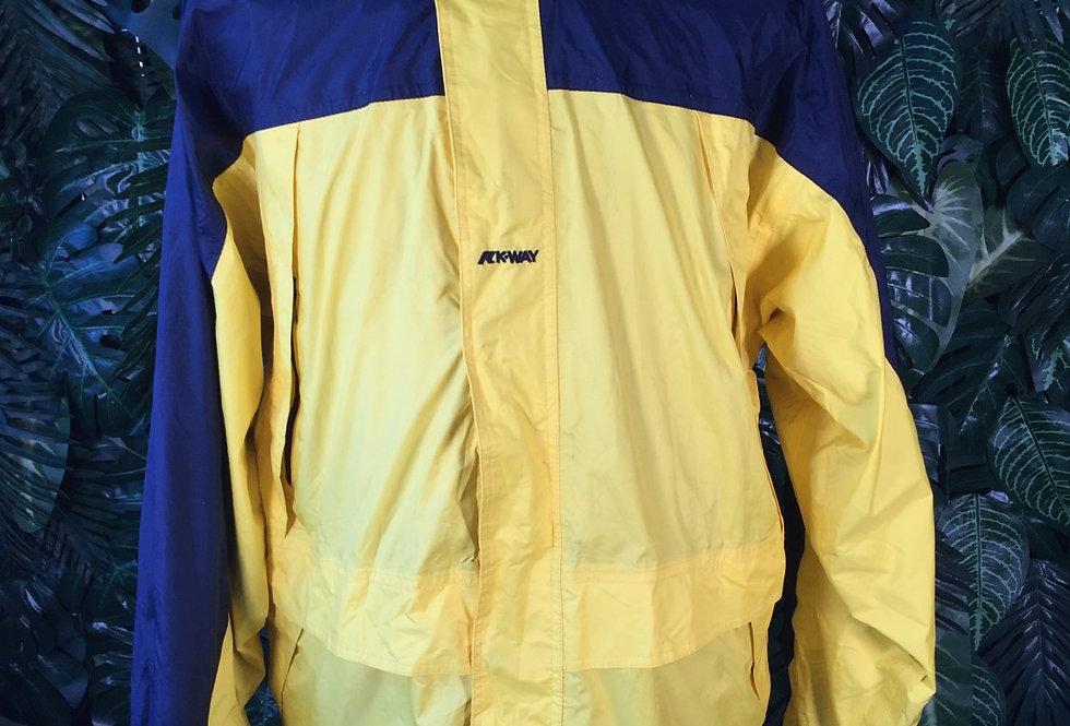 K Way 2 tone hooded windbreaker (L)