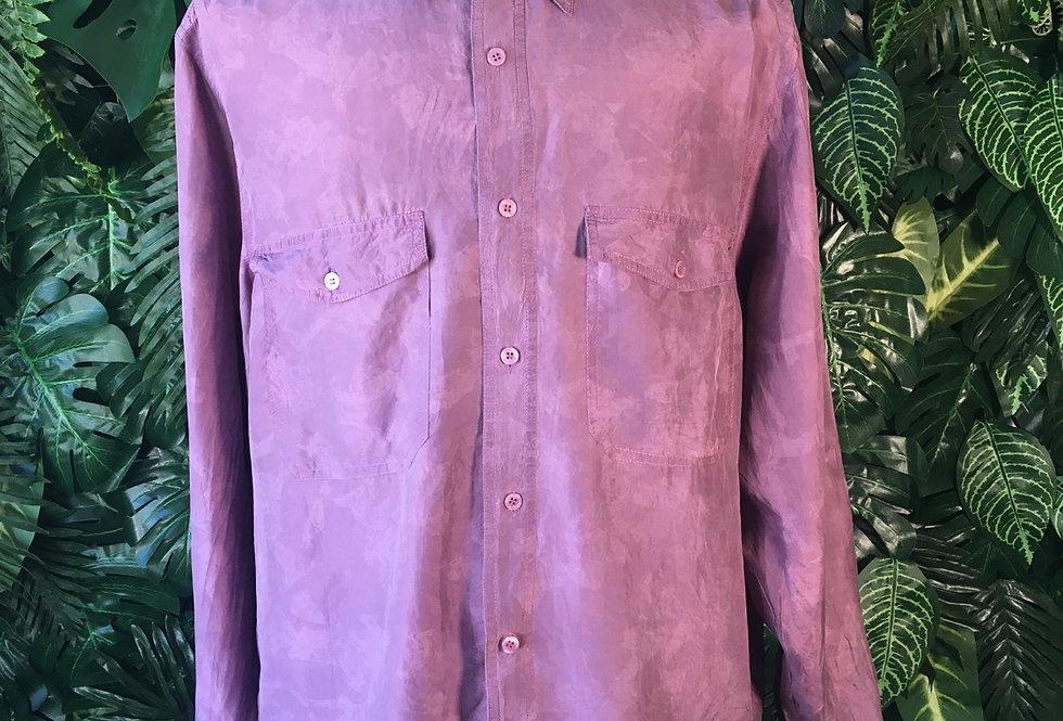 Purple silk shirt (L)