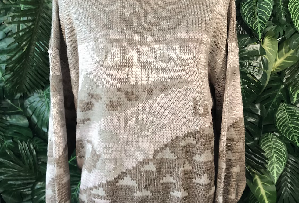 1980s graphic knit (size 44)