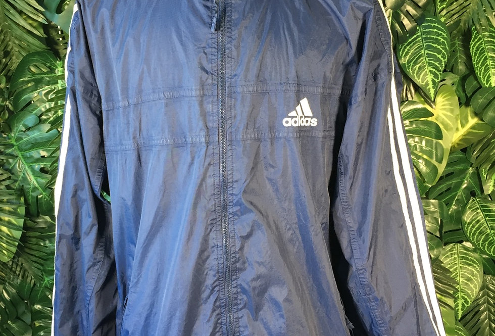 Adidas hooded windbreaker (XL)