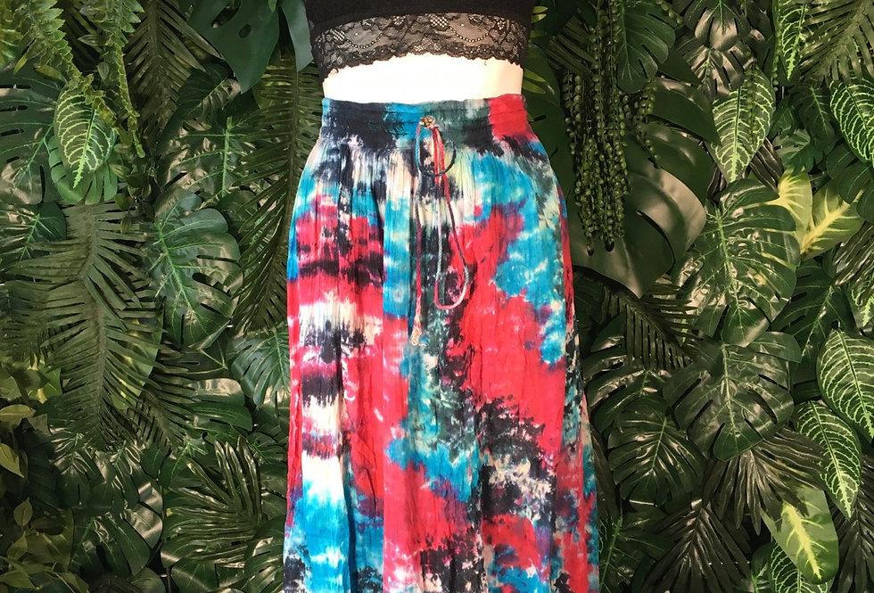 Tie dye hippy skirt